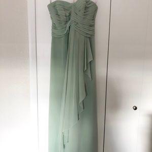 David's Bridal Strapless Dress